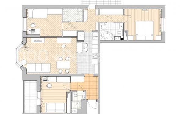 Трехкомнатная квартира в доме