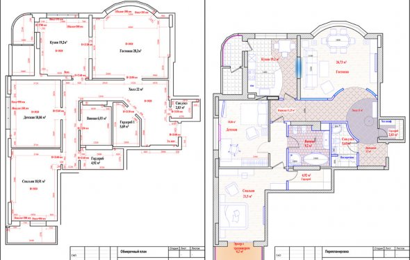 Примеры перепланировок квартир
