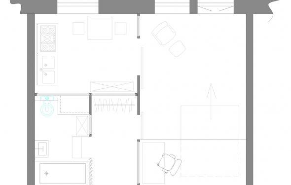 План с расстановкой мебели: