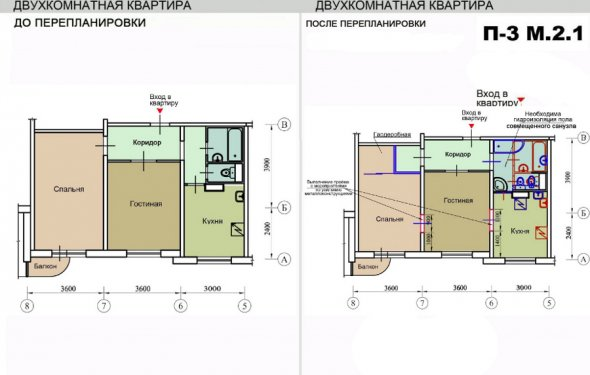 перепланировки квартир в
