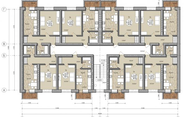 Планировка типовых квартир
