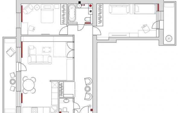 Дизайн типовых 3 комнатных панельных квартир