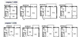 Планировка 3-х комнатной квартиры в панельном доме 5 и 9